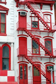 """Fire Escape Stairs, Canal Street, New York City"" by NYC*NYC or Noel Y. C. on Flickr - Canal Street, New York City"
