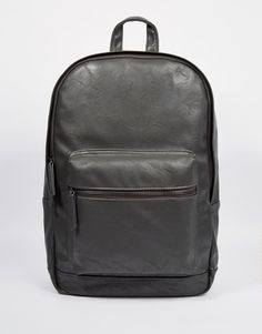 ASOS Faux Leather Backpack