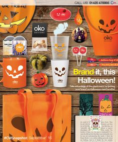Halloween Merchandise | We've gathered our most popular selection of branded Halloween products for you to choose between. Find them here > http://www.completemerchandise.co.uk/snapshot-categories/promotional-halloween-merchandise.html