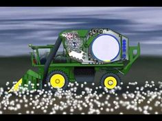 Colhedora 7760 John Deere - How does cotton go from plant to bale?