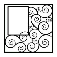 Swirls, Flourishes Scrapbooking Die Cut Overlay