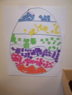 color sorting Easter egg