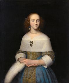 Portrait of Susanna Reael by Isaack Luttichuys, 1656 the Netherlands, Rijksmuseum Amsterdam Click for a larger image.  The pattern on the lace is amazingly detailed.
