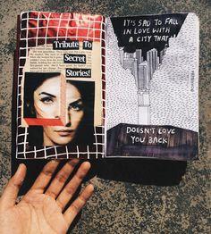 cruel cities good hearts // art journal, journal inspiration, writing journal, scrapbook, instagram inspiration, aesthetics
