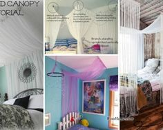 Diy Bed Canopy diy: $10, 1 hour canopy: 2 bed sheets, 2 bed skirts, a spool of