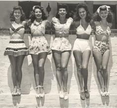 Bathing suits, c. 1940s.