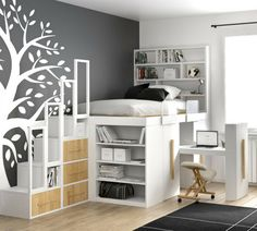 Impero young space saver bed is specifically designed for small rooms, it is one of the best space saving solution for children bedrooms. Cute Bedroom Ideas, Cute Room Decor, Room Ideas Bedroom, Bedroom Decor, Room Design Bedroom, Bedroom Loft, Girls Bedroom, Space Saver Bedroom, Bedrooms