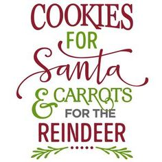 Silhouette Design Store - View Design #102808: cookies for santa carrots for reindeer phrase