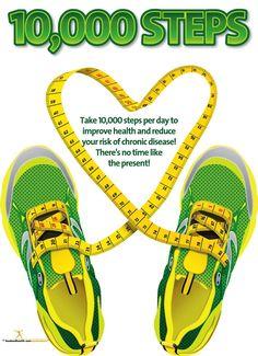 10K Steps Poster - Exercise Poster