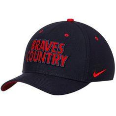7c3e55011de Atlanta Braves Nike Local Classic Swoosh Performance Flex Hat - Navy