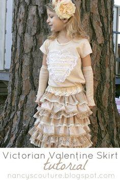 Victorian Valentine skirt tutorial ...so pretty!