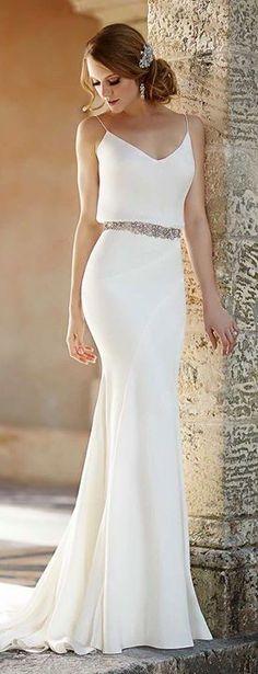 Deep V Back Beach Wedding Dress With Sheer Lace Bodice Milanoo Http Goo Gl 0lqccg Ideas Pinterest