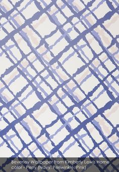Beverley wallpaper from Kimberly Lewis Home in Perry (Navy, Periwinkle, Pink)