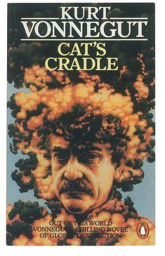 Cat's Cradle by Kurt Vonnegut Jr. Kurt Vonnegut, Penguin Books, Satire, Writing A Book, Science Fiction, My Books, Novels, Cat's Cradle, Cats