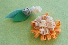 Pretty Felt Flowers, maybe for hair clips