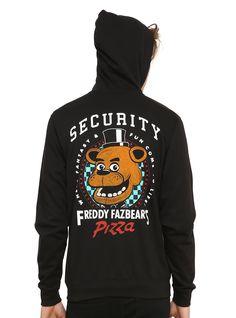 Five Nights At Freddy's Freddy Fazbear's Pizza Security Zip Hoodie