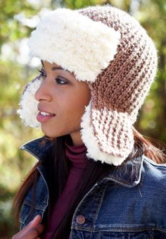 Patons Theo & Patons Shetland Chunky - Trapper Hat (knit)