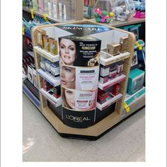 L'Oreal Skincare Age Perfect Corner Shelf Display