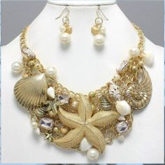 Chunky Nautical Sea Life Starfish Statement Set Gold Park Lane Lt