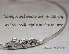 Proverbs 31:25 KJV