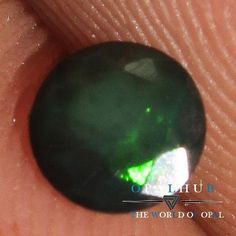 4x4 MM Natural Ethiopian Welo Fire Black Opal Faceted Cut Gemstone Play  590
