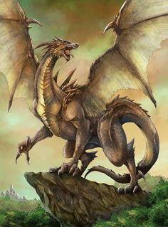 Pin van thierry van peer op dragons in 2019 - дракон, мифология en мифическ We Heart It Dibujos, Fantasy World, Fantasy Art, Cool Dragons, Dragon's Lair, Dragon Artwork, Dragon 2, Gold Dragon, Fire Dragon