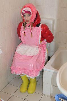 maid lahmakinzira 2 maid lahmakinzira on toilet, #rainweargirl, #rainwearmaid, #rainbound, #rainwearbound, #downwear, #downweargirl, #bonnet, #bonnetgirl, #bonnetmaid, #aprongirl, #apronmaid, #downwearmaid, #babyface, #apronfetish, #rainwearfetish,...