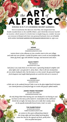 how many more sunday's left of summer? | kate spade new york's guide to brunching alfresco in NYC