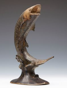Image result for leaping fish sculpture