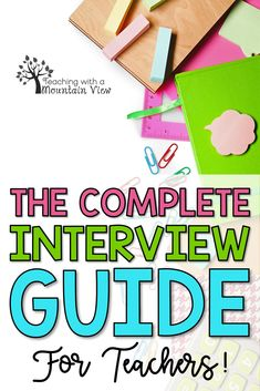 Tips for Teaching Interviews Teaching Interview Questions, Teacher Job Interview, Interview Guide, Teacher Interviews, First Year Teaching, Teaching Jobs, College Teaching, Elementary Teacher Resume, Teacher Resumes