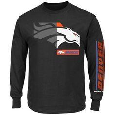 f4e46cfa5ce Mens Denver Broncos Majestic Black Best Team Standing Long-Sleeve T-Shirt