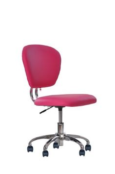 New Pink PU Leather Mid Back Mesh Task Chair Office Desk Task Chair H20  BestChair