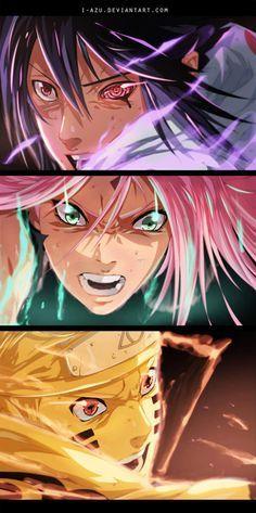 <3 Sasuke, Sakura & Naruto (Team Kakashi / Team 7) - by i-azu, DeviantArt