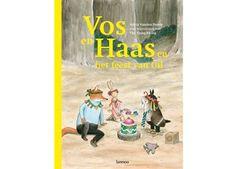 vrolijk leesboek 'vos en haas en het feest van Uil' Lannoo | kinderen-shop Kleine Zebra