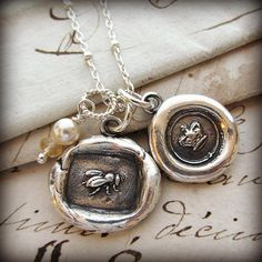 Perfect for Mom or the matriarch in your family, this necklace features a wax seal crown that's been cast using an antique Victorian era wax seal from the early and a sweet honey bee that's also been cast using a vintage wax seal. Love Necklace, Bar Necklace, Chain Necklaces, Wax Seals, Queen Bees, Gifts For Mom, Victorian Era, Silver Earrings, Silver Bracelets