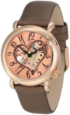 Relógio Stuhrling Original Women's 109.1245E14 Amour Aphrodite Cupid II Automatic skeleton Rose-Tone Watch #relogio