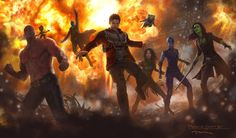 Check out the concept art for Guardians of the Galaxy Vol. 2!! The lineup includes the Marvel Comics character Mantis. The illustration comes from Andy Park. More to come in during July 23's …