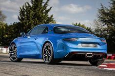 3/4 arrière Alpine A110 (2017) bleue