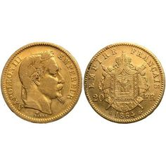 1864 French 20 Franc Gold Coin   #Gold  #401K #IRA #Investors #Bullion #regal_assets_review #Regal_Assets