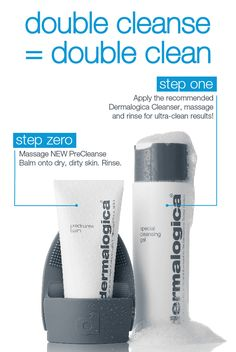 The NEW PreCleanse Balm is available NOW! Zero Make-up, Zero Residue and Zero Irritation is achieved with the Dermalogica Double Cleanse. For Step Zero, apply PreCleanse Balm to the complimentary cleansing mitt and rub into dry skin for a mild exfoliation and deeper cleanse, then gently massage with wet hands to further activate the balm. For Step 1, use your daily Dermalogica Cleanser to remove remaining traces of makeup and residue for clean, radiant skin.