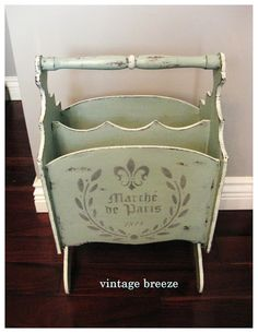 Vintage Breeze: ~Duck Egg Blue Magazine Rack~