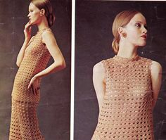 70s Vintage Crochet Pattern Boho Pants Tunic Dress
