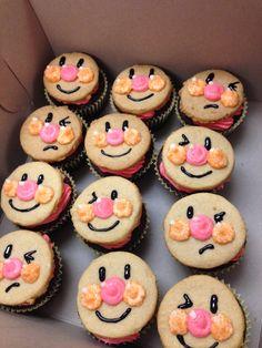Anpanman cupcakes