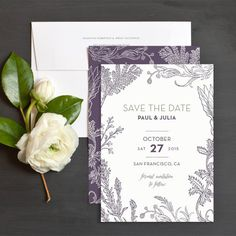 French Herbs Save The Date Cards by Emily Crawford | Elli