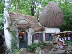 Beautiful Fairy Tales Cottage/House Designs. So is this a Smurf cottage or Gnome home?