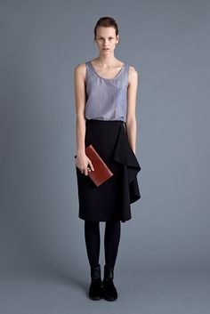 Simonetta Top, Asteri Skirt, Leather Clutch and Chelsea Boot | Samuji FW15 Seasonal Collection