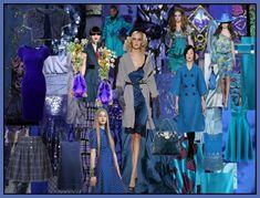 Inky Blues Fashion Mood Board