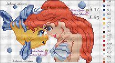 Pinta e Borda (Lidiane Silveira): Ariel em ponto cruz!