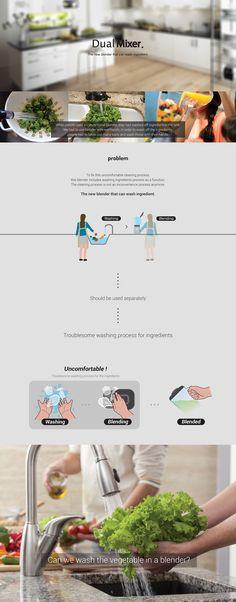 Dual Mixer on Behance Presentation Layout, Product Presentation, Yanko Design, Interactive Design, Innovation Design, Design Process, Mixer, Behance, Product Design