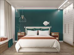 Green Bedroom Walls, Green Master Bedroom, Bedroom Colors, Indian Bedroom Decor, Bedroom Decor For Small Rooms, Home Decor Bedroom, Apartment Interior Design, Interior Design Living Room, Aesthetic Room Decor